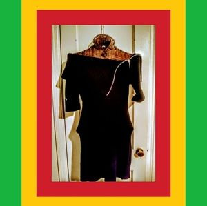 BLACK TOO SEXY SWEATER DRESS/TUNIC